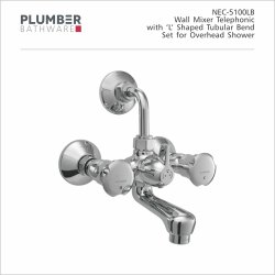Plumber Double Handle NEC-5100LB Nectar Wall Mixer, For Bathroom Fittings