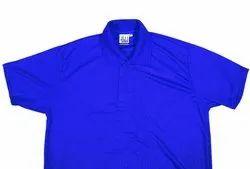 Half Sleeve Polyester Royal Blue Polo T-Shirt