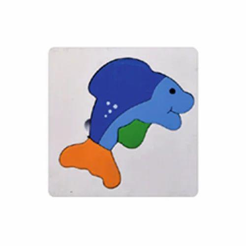Meraki My First Puzzle - Dolphin (4 Pc) - Wood-O-Plast