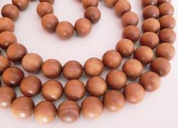 108 natural sandalwood mala loose beads