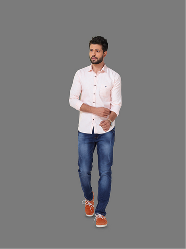 53a7ca6c Men's Solid Pink Casual Wear Shirt, Size: S - X, Rs 120 /piece | ID ...