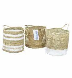 Low MOQ Custom Jute Baskets