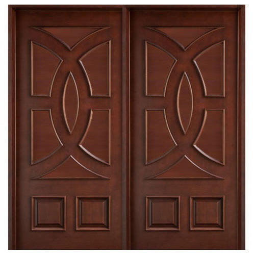 Wood Double Panel En Door, 25-75 Mm
