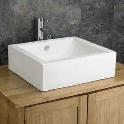 Ceramic White Table Top Wash Basin, for Bathroom