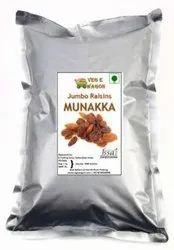 Veg E Wagon Munakka (Jumbo Raisins) Regular 1 Kg Raisins (1 kg, Vacuum Pack)