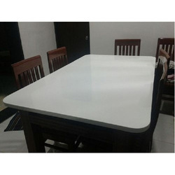 White Corian Acrylic Solid Surface Table
