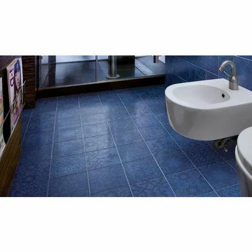 Porcelain Tiles Blue Bathroom Floor, Blue Bathroom Flooring