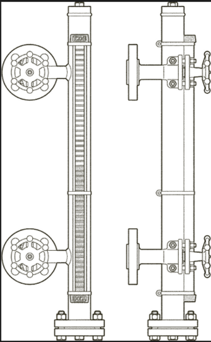 boiler drum gauge glass assembly