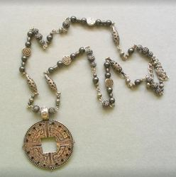 Metal Beads With Swarovski Pearl Pendant