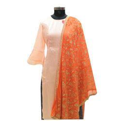 Designer gold Embroidered Dupatta