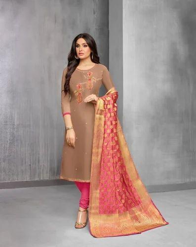 64512cbf31 Moof Fashion Embroidered Banarasi Dupatta Salwar Suit, Rs 799 /piece ...