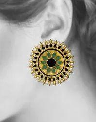 Traditional Meenakari Stud Earrings