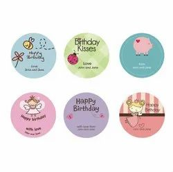 Round Birthday Gift Sticker