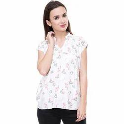 Phonic Medium and XL Ladies White Printed Top