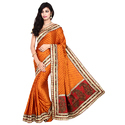 Gaji Silk Bandhani Fancy Saree With Blouse Piece, Saree Length: 5.5 M