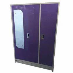 Purple Modular Steel Almirah