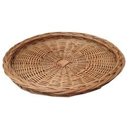 Round Serving Cane Tray