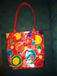 Block Printed Leather Bag