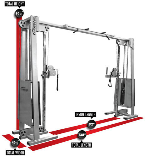 Gym Equipment Kolkata: Cable Cross Over Pulley Gym Machine