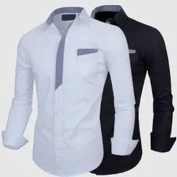 Cotton Collar Neck Mens Designer Shirt, Size: M-XXL