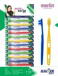 Multicolor Merlin Kaizer Soft Toothbrush