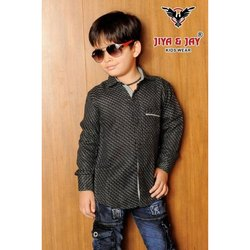 Kids Boy Cotton Casual Shirts, Size: 20-36