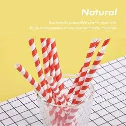 8 mm Coloured Paper Straws