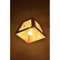 Open Wooden Hanging Lamp