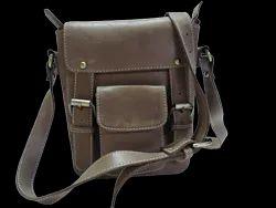 Leather Designer Messenger Bag
