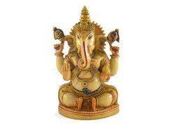 Handmade Resin Idol of Ganesha Hand Painted
