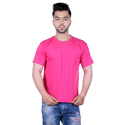 Men Solid Casual Pink T-Shirt