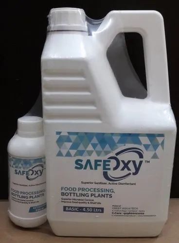 Food Grade Disinfectant and Surface Sanitiser - Safe Oxy - Food Pro Pure Aqueous Chlorine Dioxide
