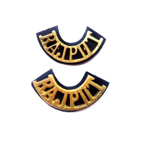 Golden Brass Metal Rajput Later Badge Size 4 Inch Rs 40 Piece