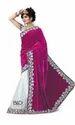 Ladies Velvet Saree