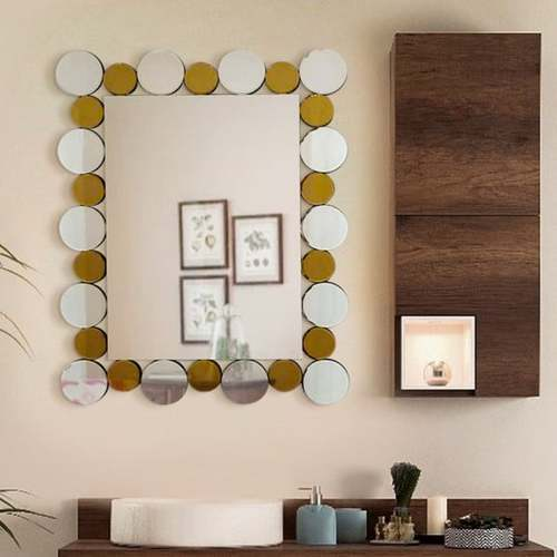 The Coin With Colors Wall Mirror