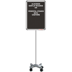 Pedestal Stand with Casters