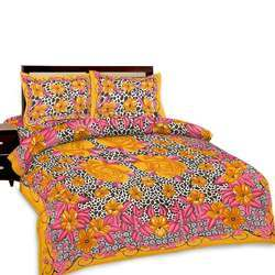 Floral Double Bed Sheet And Pillow Covers 251