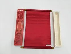 Red Scroll Invitations