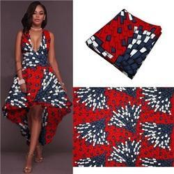 Polyester African Real Wax Print Fabric, GSM: 50-100, Use: Garments