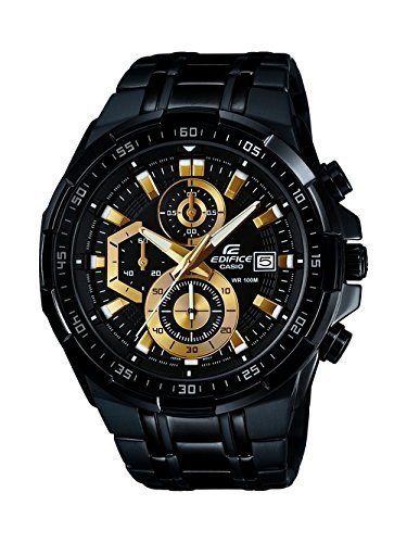 1a3e7faedc5a Black Stainless Steel Casio Edifice Mens Chronograph Watch