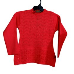 Red Girls Woolen Top