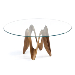 Transperant Round Glass Table