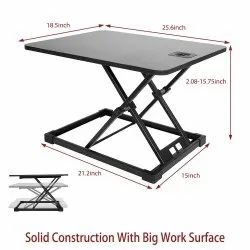 Kawachi Standing Height Adjustable Laptop Desk Riser With Sit to Stand Workstation