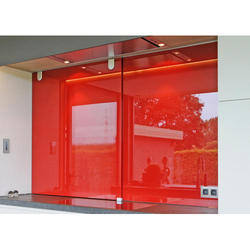 Red Tempered Lacquered Glass