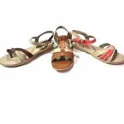 Daily wear Ladies PVC Flat Sandal, Size: 6x11