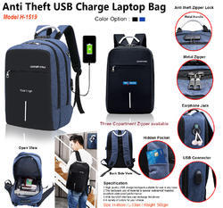 Anti Theft USB Charge Laptop Bag H-1519