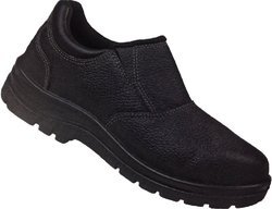 Ladies Safety Shoe Slip On Steel Toe Black