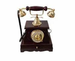 Purpal Landline Connection Wooden Telephone, For Home, Model Name/Number: A-30