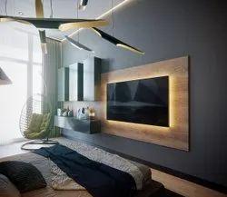 Modern Tv Unit Design Services, For Home, Dimension / Size: 10'X7'