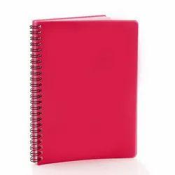合成Pu皮革红色PVC纸封面笔记本,每日笔记,每年